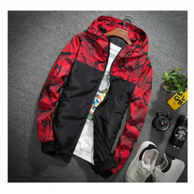 【 L レッド】 大人気 マウンテンパーカー メンズのジャケット/アウター(ナイロンジャケット)の商品写真