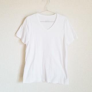 ムジルシリョウヒン(MUJI (無印良品))のTシャツ 無印 レディース 白 Vネック 半袖 XXL(Tシャツ(半袖/袖なし))