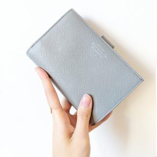 スマイソン(Smythson)の【新品・完売色】SMYTHSON スマイソン パナマ 二つ折り財布 グレー(財布)