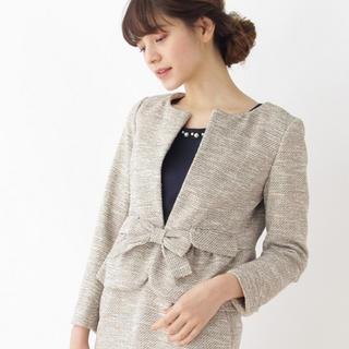 クチュールブローチ(Couture Brooch)の【新品】セレモニースーツ ノーカラージャケット ツイードスカート 2点セット(スーツ)
