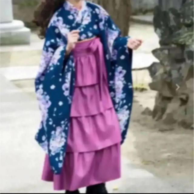 Catherine Cottage(キャサリンコテージ)の新品 キャサリンコテージ フリル 袴 スカート ピンク 120cm キッズ/ベビー/マタニティのキッズ服 女の子用(90cm~)(ドレス/フォーマル)の商品写真