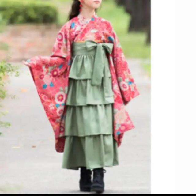Catherine Cottage(キャサリンコテージ)の新品 キャサリンコテージ フリル 袴 スカート ネイビー 120cm キッズ/ベビー/マタニティのキッズ服 女の子用(90cm~)(ドレス/フォーマル)の商品写真