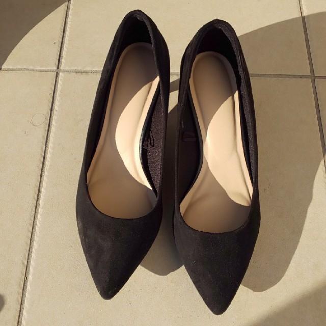 GU(ジーユー)のgu人気商品!黒マシュマロパンプスXL レディースの靴/シューズ(ハイヒール/パンプス)の商品写真
