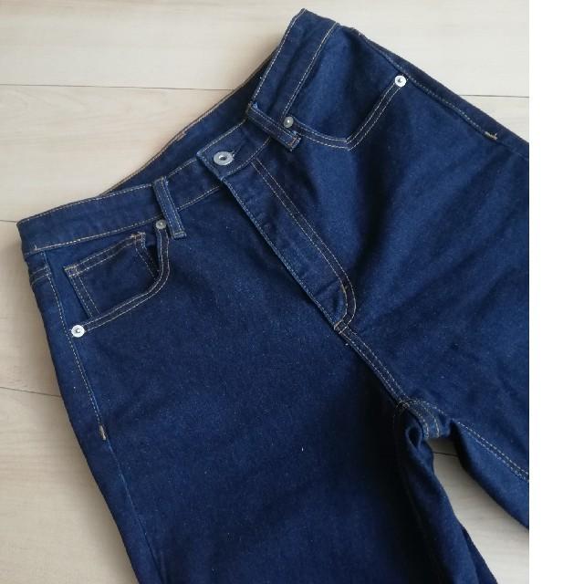GU(ジーユー)のGU★ハイウエストシガレットアンクルジーンズ★サイズL レディースのパンツ(デニム/ジーンズ)の商品写真