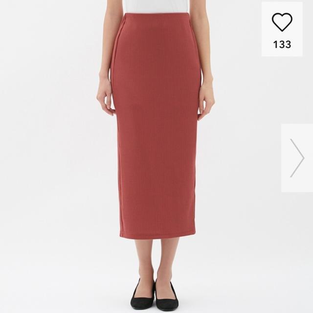 GU(ジーユー)のリブナローミディスカート  GU レディースのスカート(ロングスカート)の商品写真