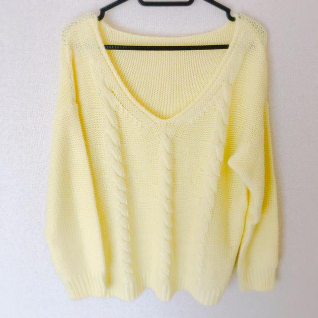 GU(ジーユー)のGU ニット パステルカラー 黄色 レディースのトップス(ニット/セーター)の商品写真