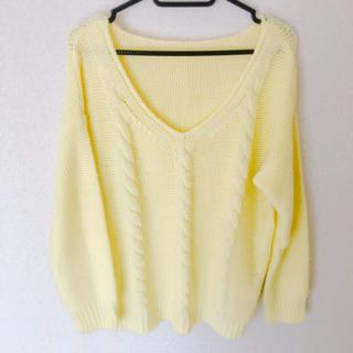 ジーユー(GU)のGU ニット パステルカラー 黄色(ニット/セーター)