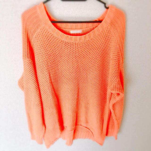 GU(ジーユー)のGU ニット オレンジ レディースのトップス(ニット/セーター)の商品写真