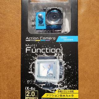 アクション防水カメラ iX-6c(ブルー)(コンパクトデジタルカメラ)