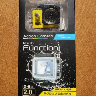 アクション防水カメラ iX-6c(イエロー)(コンパクトデジタルカメラ)