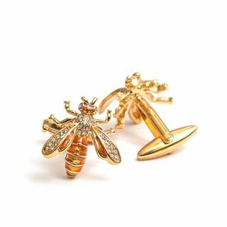 蜂カフスゴールド カフリンクス カフスボタン(カフリンクス)