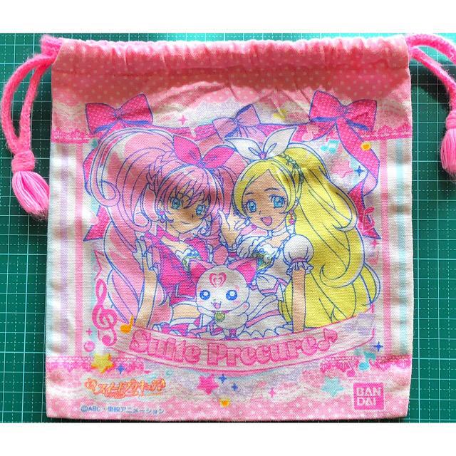 BANDAI(バンダイ)のBANDAI   スウィートプリキュア 巾着袋 エンタメ/ホビーのアニメグッズ(その他)の商品写真