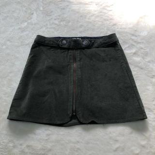 ザラ(ZARA)のキッズ ZARA スウェード生地スカート カーキ(スカート)