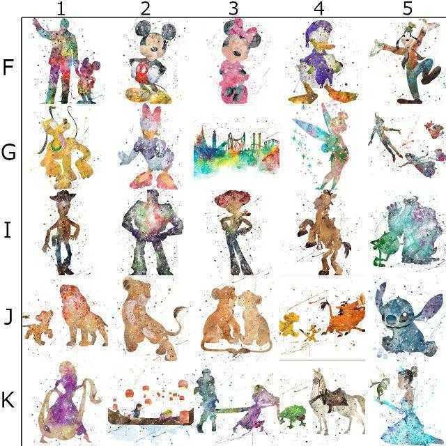 Disney(ディズニー)の日本未発売!ディズニーランド・アートポスター【額縁つき・送料無料!】 エンタメ/ホビーのアニメグッズ(ポスター)の商品写真
