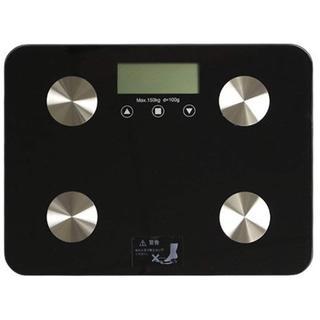 特価☆ 体重・体組成計 超薄型 ヘルスメーター ブラック(体重計)