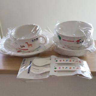 ミキハウス(mikihouse)のミキハウス*プチアニマル食器セット(離乳食器セット)