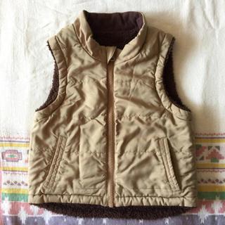 ムジルシリョウヒン(MUJI (無印良品))の無印良品 リバーシブル ベスト 100cm(ジャケット/上着)