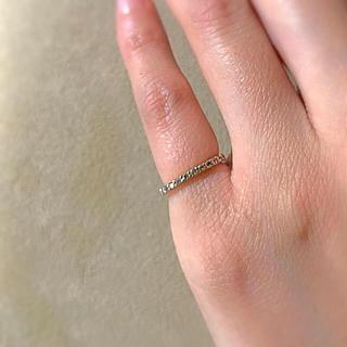 ヨンドシー(4℃)のカナル4℃ ピンキー リング シルバー ピンクゴールド(リング(指輪))