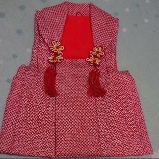 被布 正絹 総絞り 七五三 着物 3歳(和服/着物)