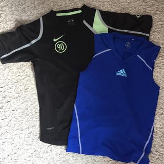 アディダス(adidas)のNIKE adidas ドライTシャツ 二枚セット(Tシャツ/カットソー)