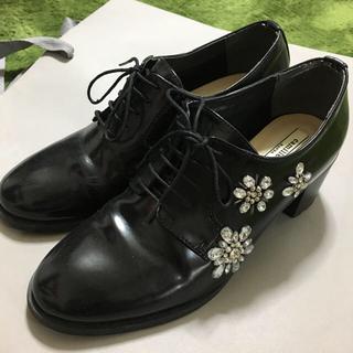 ランダ(RANDA)のRanda ランダ ラインストーン ローファーパンプス(ローファー/革靴)