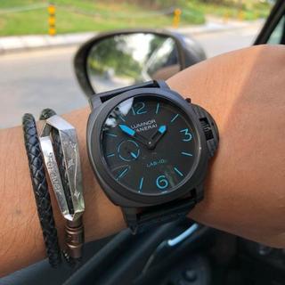 パネライ(PANERAI)のほぼ新品 PANERAI パネライ 腕時計 自動巻き 保存箱付き 激売れ(レザーベルト)