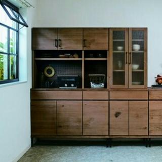 新品★イエノワ食器棚(幅120cm×高さ185cm)送料込み(キッチン収納)
