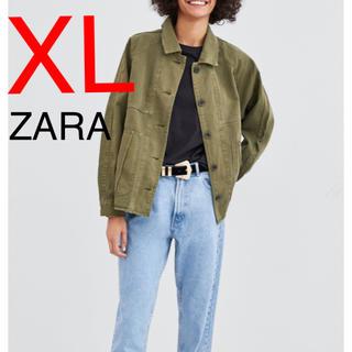 ZARA - ZARA デニムジャケット ミリタリージャケット ジャケット カーキ