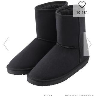 ジーユー(GU)の完売GUムートンタッチブーツ黒Mサイズ(ブーツ)