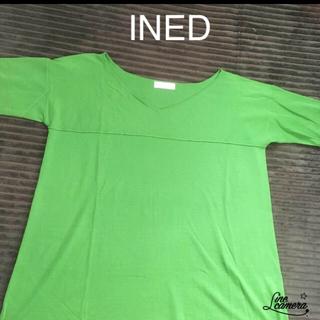 イネド(INED)のined 七分袖セーター(ニット/セーター)