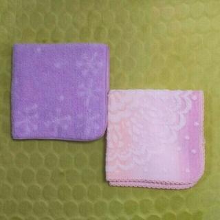 ベルメゾン(ベルメゾン)の無撚糸タオルハンカチ2枚セット(ハンカチ)