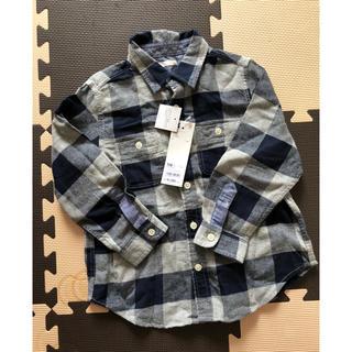 ジーユー(GU)の新品  チェックシャツ(Tシャツ/カットソー)
