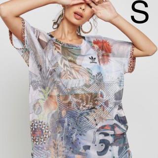 アディダス(adidas)のadidas アディダス シースルー  Tシャツ フィットネス(その他)