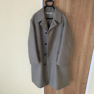 AURALEE DOUBLE FACE CHECK LONG COAT(チェスターコート)