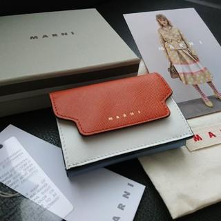 マルニ(Marni)のマルニ Marni TRUNK 3つ折り財布 新品 サフィアーノ(財布)