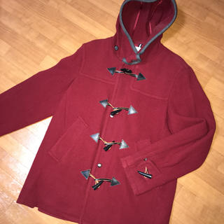 イッカ(ikka)のダッフルコート レッド 赤 ジャケット チェスターコート レディース メンズ(ダッフルコート)