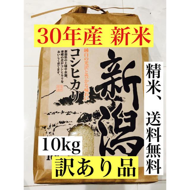 8 ★訳あり品★30年 新潟産コシヒカリ☆10kg(正味9.1kg) 食品/飲料/酒の食品(米/穀物)の商品写真