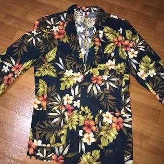ザラ(ZARA)の7分袖 テラードジャケット スーツ メンズ 花柄 アロハ(テーラードジャケット)