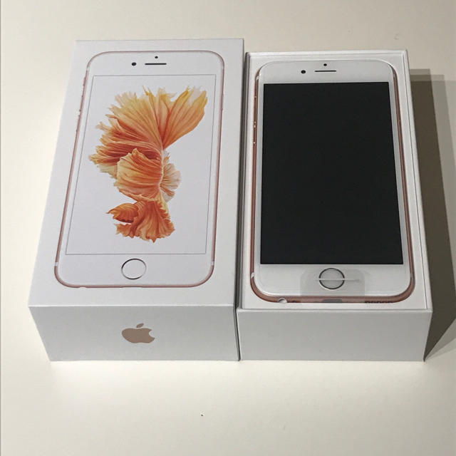Apple(アップル)の新品 iphone6s 32GB ローズゴールド SIMロック解除 SIMフリー スマホ/家電/カメラのスマートフォン/携帯電話(スマートフォン本体)の商品写真