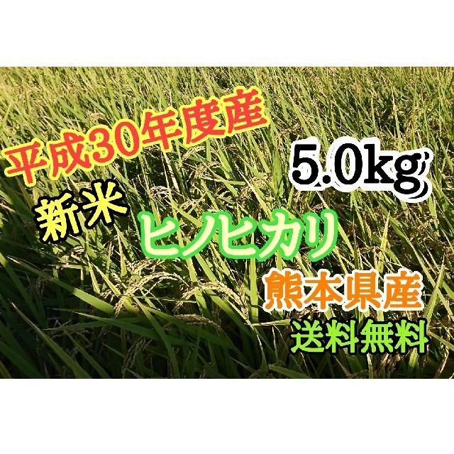 H30年度産 新米5.0kg ヒノヒカリ 熊本県産 食品/飲料/酒の食品(米/穀物)の商品写真