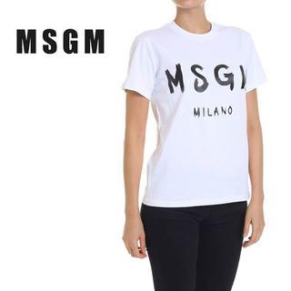 エムエスジイエム(MSGM)の【L1】MSGM レディース ホワイト 半袖 Tシャツ size L(Tシャツ(半袖/袖なし))