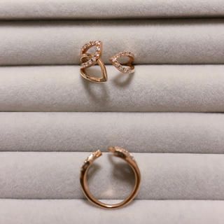 K18YG ダイヤモンド 0.10ct リング(リング(指輪))