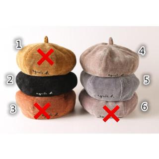 売り切りセール❤️1680円を1280円❤️レディース ベレー帽 コーデュロイ(ハンチング/ベレー帽)