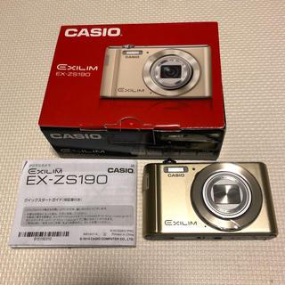カシオ(CASIO)の未使用 CASIO カシオ EXILIM EX-ZS190 デジカメ ゴールド (コンパクトデジタルカメラ)