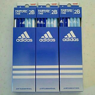 アディダス(adidas)の新品◆未開封「三菱鉛筆 uni adidas かきかた鉛筆 六角軸 2B 3点」(鉛筆)