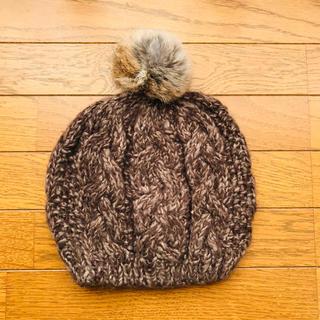 サマンサモスモス(SM2)のポンポン付きニットベレー帽(ハンチング/ベレー帽)