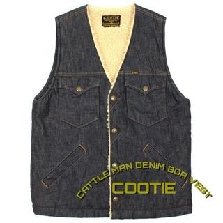 クーティー(COOTIE)のクーティ COOTIE キャトルマンデニムボアベスト(ベスト)