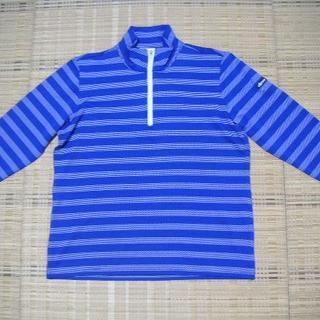 ellesse - 【新品】エレッセ★七分袖ハーフZIPシャツ(青ボーダー)★M