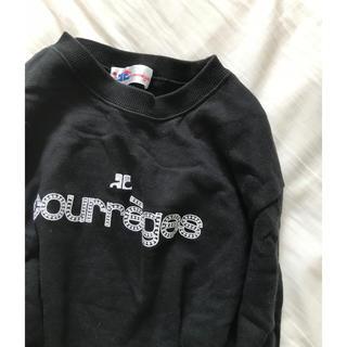 クレージュ(Courreges)のcourreges ロゴ シンプル トレーナー(トレーナー/スウェット)