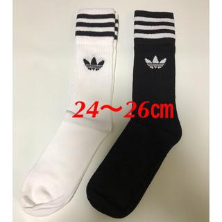 adidas - 【24〜26㎝】靴下  2足  アディダスオリジナルス
